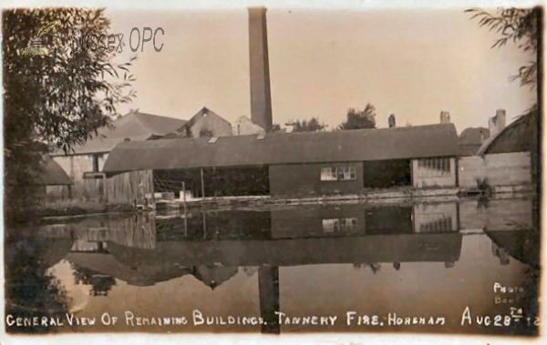 Horsham - Tannery after the Fire (August 28 1912)