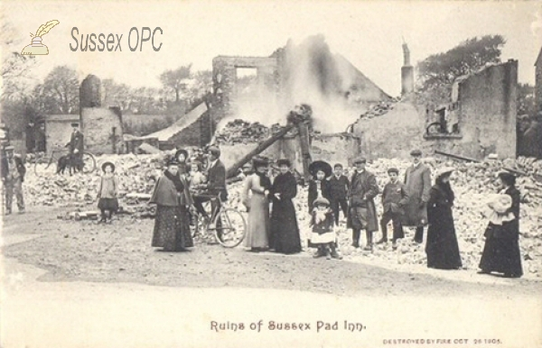 Lancing - The Sussex Pad Inn Fire (26th October 1905)
